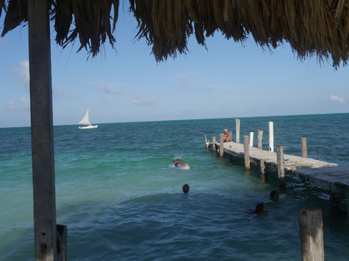 One of the many piers on Caye Cauker, Belize