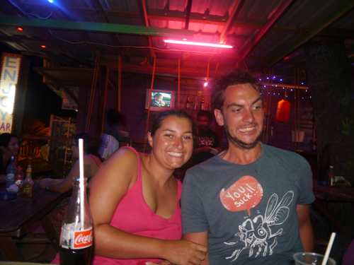 Drinking in Caye Caulker