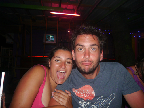 Ben and Tam in Caye Caulker