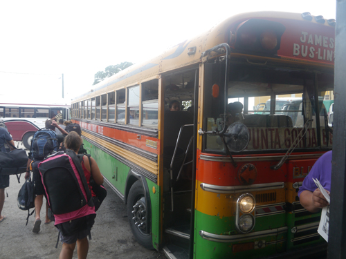 A Chicken Bus in Belize