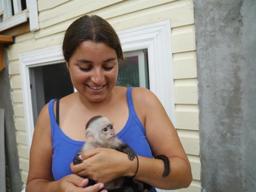 Tamara and the monkey