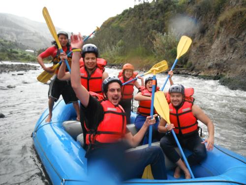 White Water Rafting in Banos