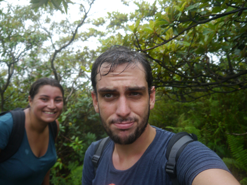 Sweaty couple Hiking Volcan Concepcion, Ometepe, Nicaragua