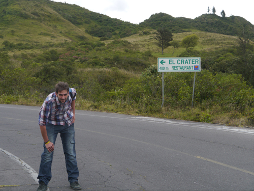 Ben short on breath on the way up one of many hills in Ecuador