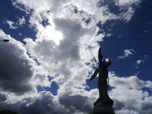 The angel statue in Quito
