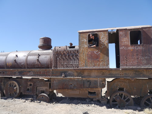 Rusting train in Bolivia