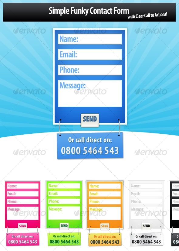 Modern Contact Form Designs
