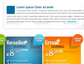 Web Hosting Company PSD