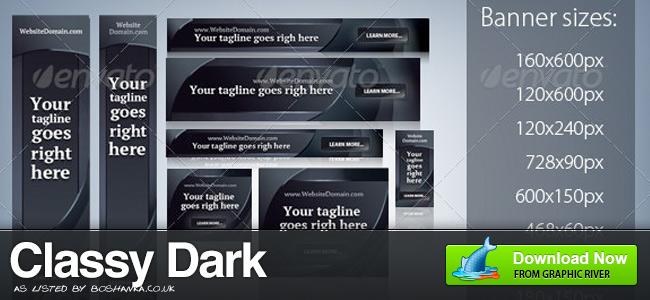 Classy Dark Banner Ads