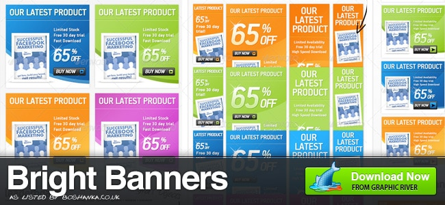 Bright, Colourful Banner Ads