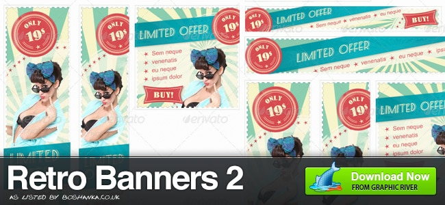 Retro Banner Ad Set 2