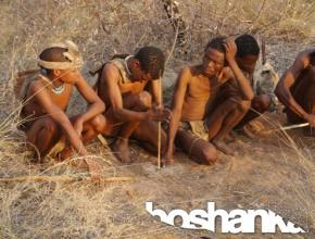 Indigenous San People in Namibia - Stock Photo