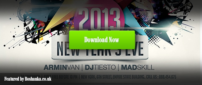 Funky Flyer Template for New Years Eve