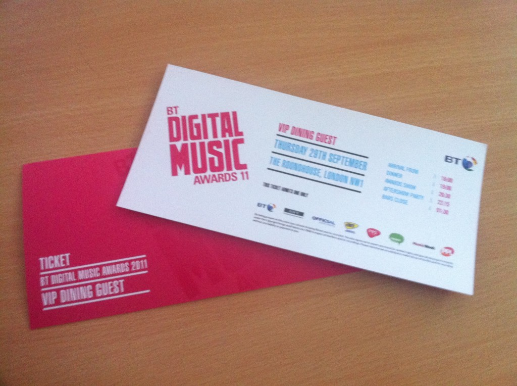 BT DMA Awards Tickets