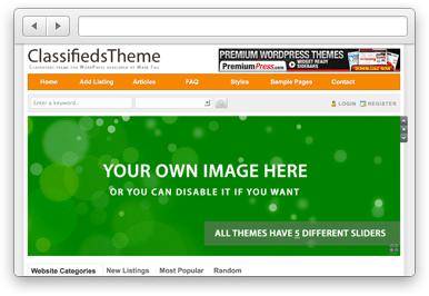 Classifieds Theme by Premium Press
