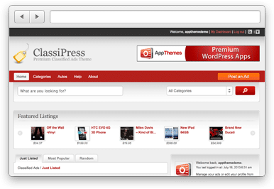 ClassiPress Classified Ads WordPress Theme
