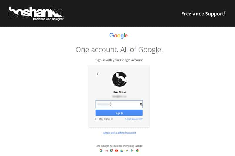 Enter your Google Apps Administrator Username and Password